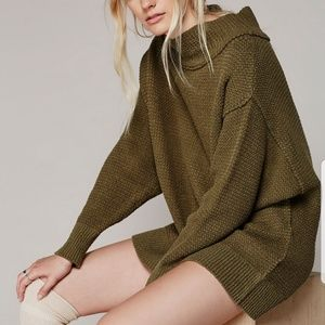 Free People Sweaters - Free People Livvy olive green knit sweater